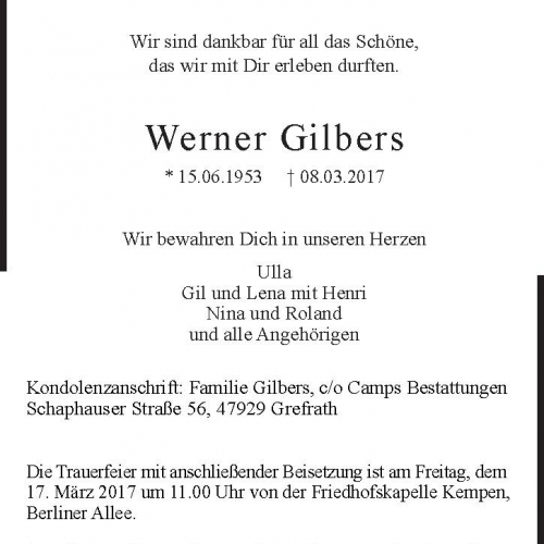Werner Gilbers