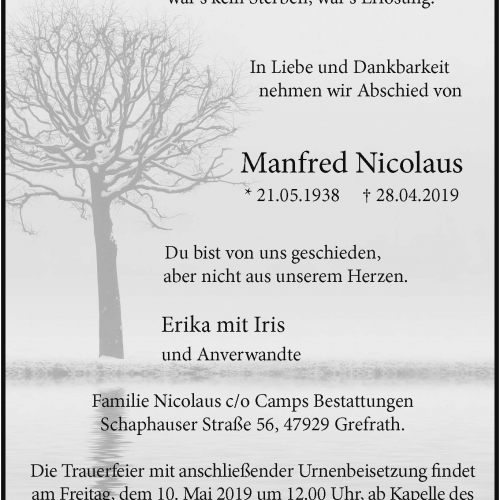 Manfred Nicolaus