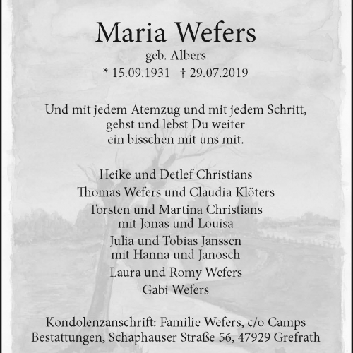 Maria Wefers